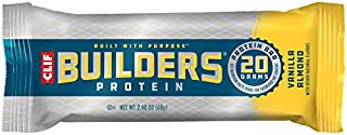 product image for CLIF BUILDERS - Protein Bars - Vanilla Almond Flavor - 20g Protein (2.4 Ounce, 12 Count) (Now Gluten Free)