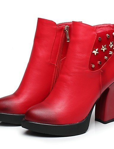 Robusto Vestido Uk6 La Red Plataforma us7 Zapatos Eu38 Casual Cn39 Botas negro Vellón Puntiagudos Moda 5 A 5 Tacón Xzz Uk5 Red Semicuero Mujer De Eu39 Cn38 us8 HqIPPwC
