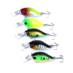 Features:With flat stainless steel split rings and high quality hooks.The action is like alive part in all places suche as the lake, harbors and rivers.Bright colors to attract fish, unique movement that provokes predator to bite.Compact and ...