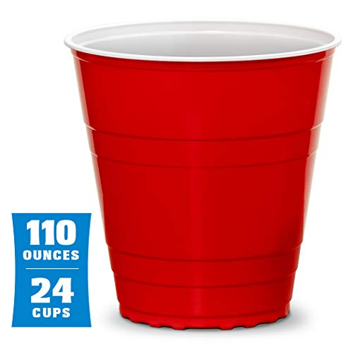 GoBig 110oz Giant Red Party Cups 24 Pack with 4 XL 3