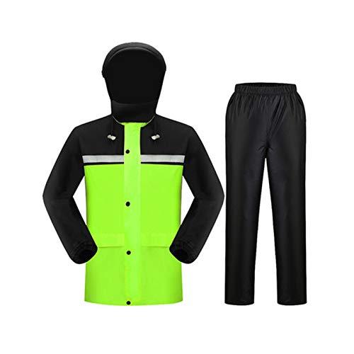 Fluorescent vert (No Cap) XXXL Ldwxxx Pantalon de Pluie pour Adulte imperméable Costume, imperméable imperméable pour Homme et Femme, Corps divisé, Double épaisseur, Fibre de Polyester (Couleur   Orange (no Cap), Taille   X
