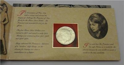 1 P Silver Peace Comes in nice holder for display 1921-1928 Dollar Brilliant Uncirculated Christmas Displays In Philadelphia