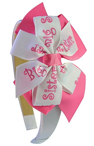 Big Sister Little Sister Hair Bow Headband or Baby Hat : YOU CHOOSE ACCESSORY ( ONE Big Sister Headband)