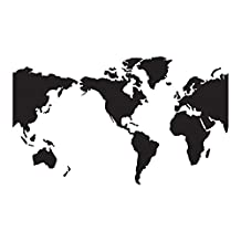 World Map Wall Decal is a Vinyl Wall Decal Displaying a world wall map. USA is Center of the Map.