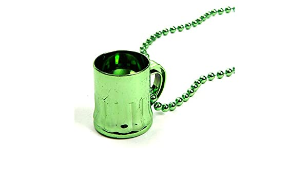 Bulk 24 Mardi Gras 33 Inch Metallic Beer Mug Beads By 4Es Novelty