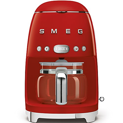SMEG 1950's Retro Style Coffee Maker Machine (Red)