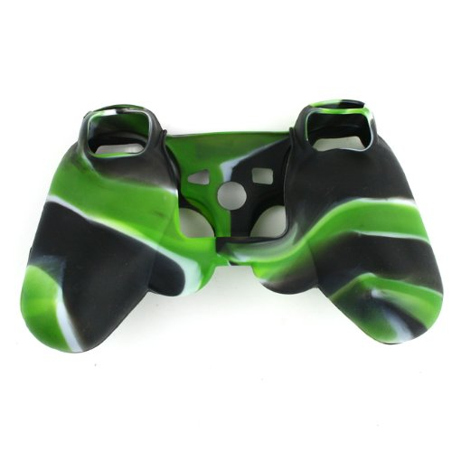 High Quality Premium Super Grip Glow Black green White Silicon Protective Skin Case Cover for Sony Playstation PS3 Remote Controller