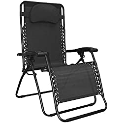 Caravan Sports Infinity Oversized Zero Gravity Chair, Black