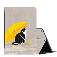 IPad 10.2 Inch 2019 Case, AMOOK PU Leather Adjustable Stand Cover Protection with Auto Wake/Sleep Smart Cover for Apple iPad 7th Gen- Animal Series