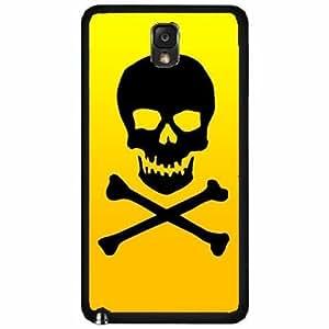 Skull Crossbone - Plastic Phone Case Back Cover Samsung Galaxy Note III 3 N9002