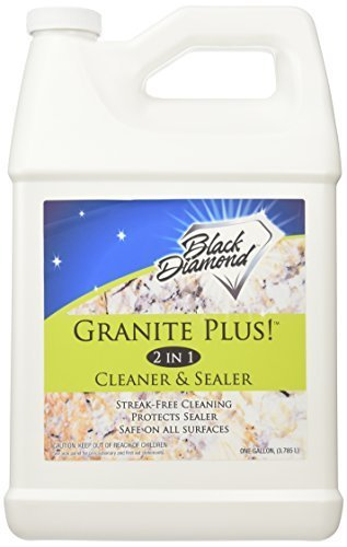 Granite Plus! 2 in 1 Cleaner & Sealer for Granite, Marble, Travertine, Limestone, Ready to Use! 1-Gallon Refill. by Black Diamond Stoneworks