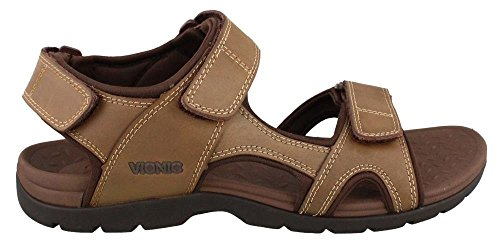 Vionic Mens Gerrit Sandal Leather Sandals Brown