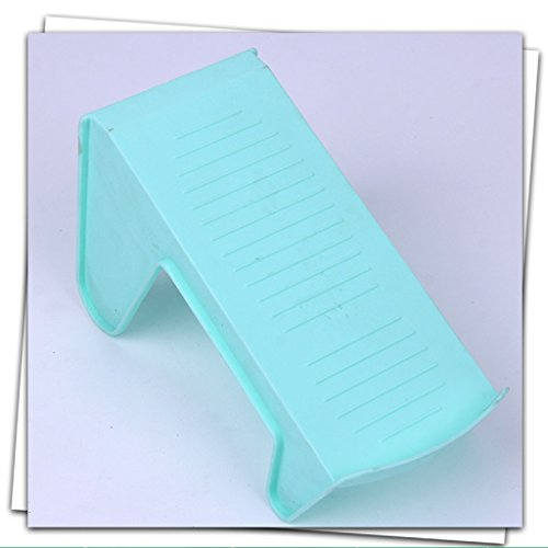 LIZHIQIANG 10 Loaded Shoe Bracket Plastic Economy One-piece Shoe Rack Simple Home Simple Modern Dormitory Dormitory Shoes Storage ( Color : Azure ) (Footwear Azure)