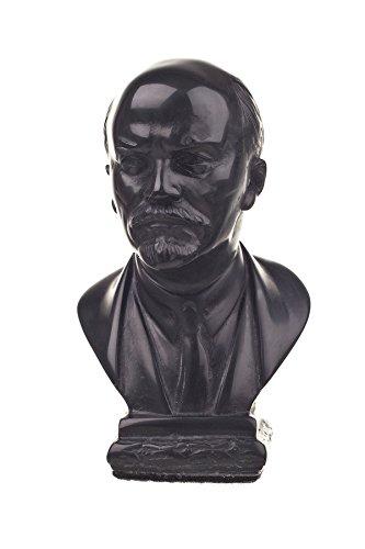 danila-souvenirs Soviet Russian USSR Leader Vladimir Lenin Stone Bust Statue Sculpture 4.1'' Black by danila-souvenirs
