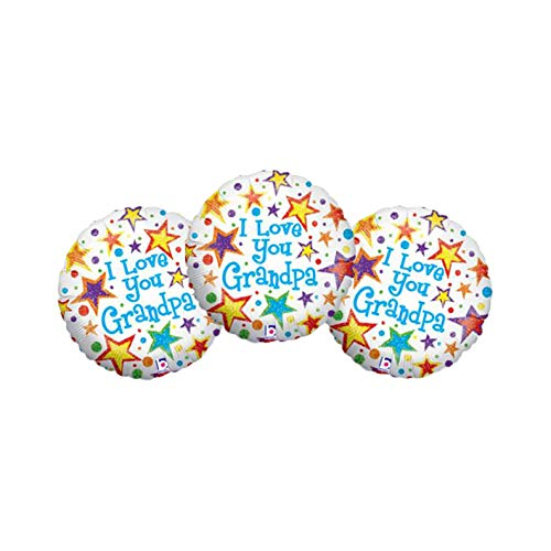 (Set of 3 I Love You Grandpa Stars and Polka Dot 18
