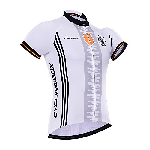 Cyclingbox Men's European Cup Series Short Sleeve Bicycle Cycling Jersey Top CCL016ECDE