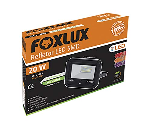 Refletor Led 20w - Verde Bivolt Foxlux Foxlux