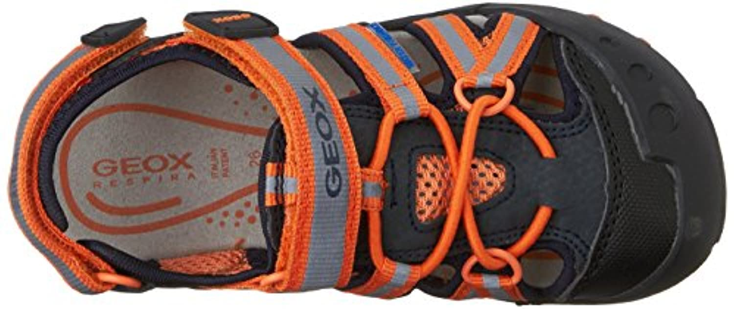 Geox Jr Sandal Kyle C, Boys' Open Toe Sandals, Multicoloured (NAVY/ORANGEC0659), Child 7 UK (24 EU)