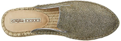 Buffalo London Women's 316-0188 Glitter Loafers, Gold Gold (Gold 01)