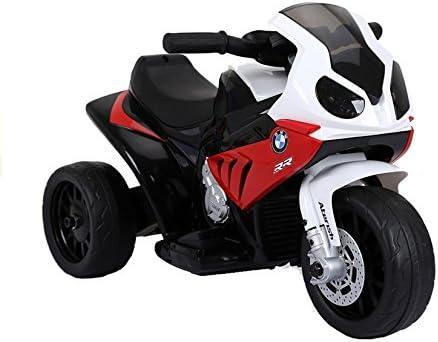 BSD Moto Electrico para Niños Motocicleta Alimentado con Batería Vehículo Eléctrico - S1000RR - Rojo