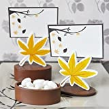 Leaf Place Card Favor Boxes with Designer Place Cards (Set of 576) - Baby Shower Gifts & Wedding Favors