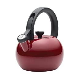Circulon 1-1/2-Quart Circles Teakettle, Rhubarb Red