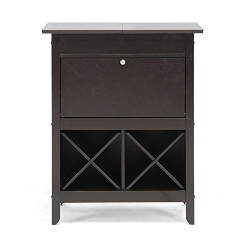 Baxton studio agaue modern and contemporary dark brown wood dry bar and wine cabinet buy - Contemporary bar cabinet on a small budget ...