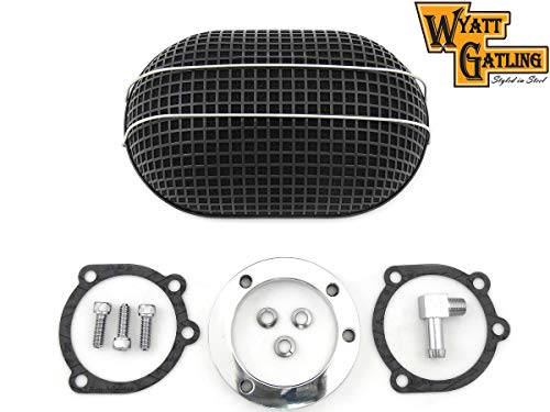 VT 34-0764 Wyatt Gatling Black Oval Mesh Air ()