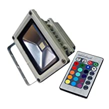 LUMINTURS 50W LED RGB Color Changing Outdoor Exterior Wall Wash Flood Lig...