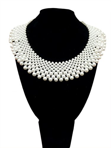 ead Cluster Collar Bib Choker Round Necklace False Collar Chunky Bridal Wedding Party Jewelry ()