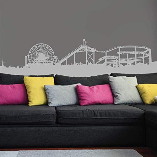 piacai Wall Sticker Decal Mural Window Santa Monica Pier Silhouette