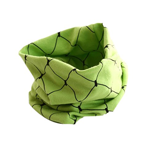 Schals Longra Herbst Winter jungen Mädche Kinder Baby Kragen Schal Baumwolle O-Ring Halstücher Schals Ansatz Verpackungs Schals (40 * 20cm/15,8 * 7,9 Zoll, 2-12) (Green)