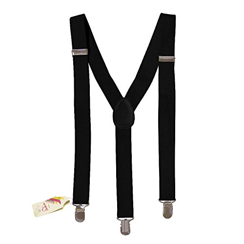 Black Solid Suspenders - Stylish And Practical Solid Suspenders In Black -
