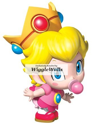 Price comparison product image 3 Inch Little Baby Princess Peach Super Mario Removable Wall Decal Sticker Art Nintendo 64 SNES Home Kids Room Decor Decoration - 2 by 3 inches