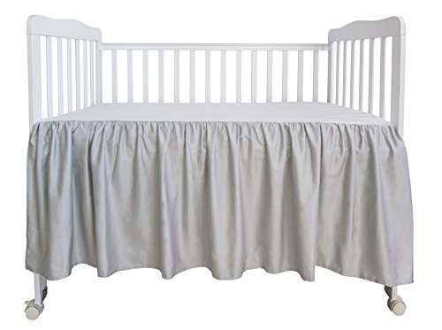 PHF Crib Bed Skirt Dust Ruffle 100% Cotton Nursery Crib Bedding for Baby 17