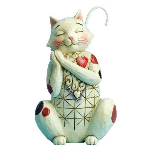 Enesco Jim Shore Heartwood Creek Love Cat Figurine, (Heartwood Creek Cats)