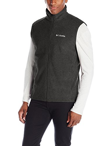 Columbia Men's Steens Mountain Vest, Charcoal Heather, Medium Image