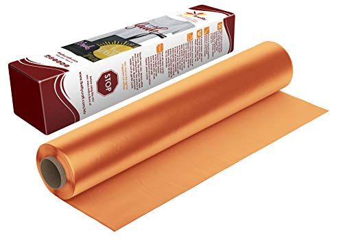 Firefly Craft Regular Peachy Orange Heat Transfer Vinyl | Peachy Orange HTV Vinyl | Peachy Orange Iron On Vinyl for Cricut and Silhouette | Heat Press Vinyl for Shirts - 12 x 20
