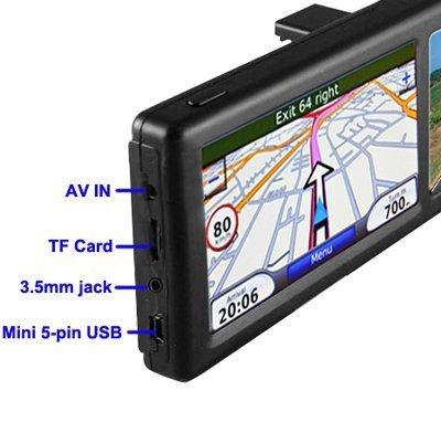 4,3 pulgadas Espejo retrovisor con Bluetooth manos libres para llamadas navegador GPS integrado de navegaci/ón GPS 4GB mapa de Europa