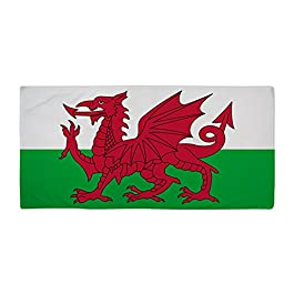 CafePress Welsh Flag Of Wales Large Beach Towel, Soft 30″x60″ Towel with Unique Design