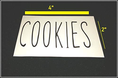 (bpn Rae Dunn Inspired Vinyl Decals (Cookies))