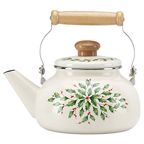 Lenox Holiday Enamel Tea Kettle