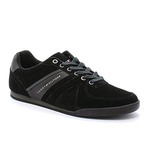Tommy Hilfiger Sneaker Riley 2B Camoscio Black Nero 40