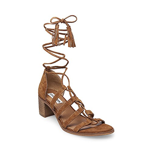 Rosel Steve Suede Madden Open Toe Ghillie Dress Womens Sandals Cognac rTr6PqxE