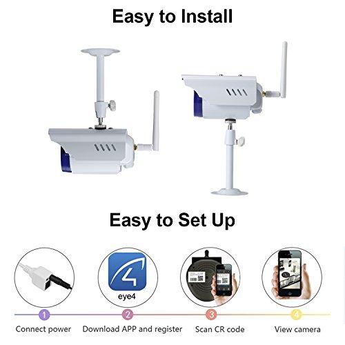 Security Camera, NexGadget Outdoor Waterproof WiFi Wireless