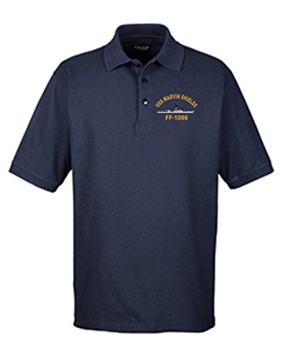 Custom Military Apparel USS Marvin Shields FF-1066 Embroidered Golf Shirt Sizes Small-4X (Marvin Uss Shields)