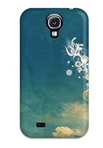UXU-145dFHuWeOl Tpu Phone Case With Fashionable Look For Galaxy S4 - Vector Artistic Abstract Artistic