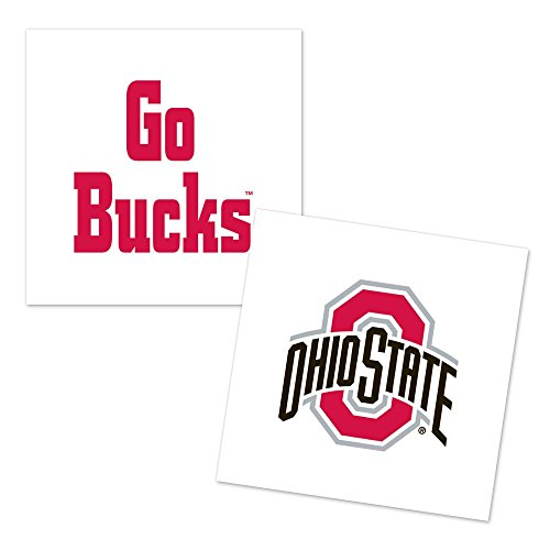 WinCraft NCAA Ohio State University Tattoo (4 Pack), Black (State Ohio Tattoos)