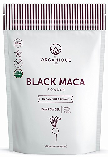 Raw Organic Black Maca Powder - Vitality and Focus Booster for Men & Women - Natural Fertility Blend for Males - Nutrient Rich Superfood, Non-GMO, Vegan, Gluten Free - The Organique Co. - (8 oz)