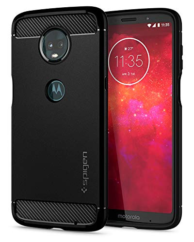 Spigen Rugged Armor Moto Z3 Play Case with Air Cushion Technology for Motorola Moto Z3 Play (2018) - Black